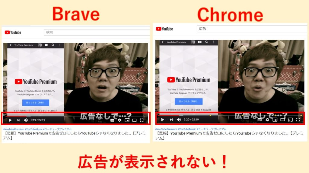 もちろんYouTube広告もカット!